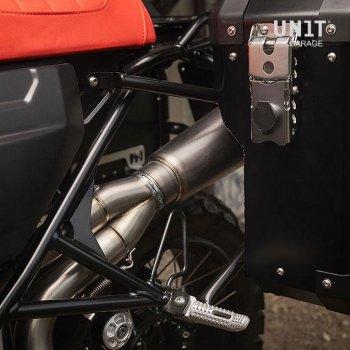 消声器侧的Atlas 34L铝袋