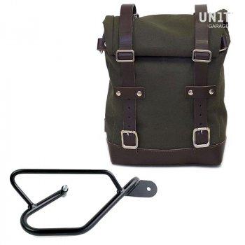 帆布侧袋+ Guzzi V9 Bobber DX镜架