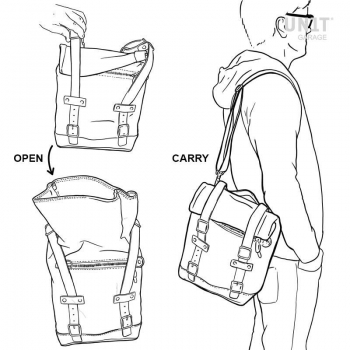 帆布侧袋+ Guzzi V9 Bobber SX镜架