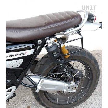 帆布侧袋+ Triumph Scrambler 1200 XC_XE SX镜架