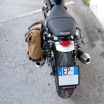 帆布侧袋+ Triumph Speed Twin SX镜架