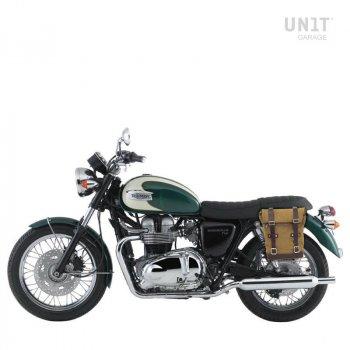 帆布侧袋+ Triumph Bonneville T100 框架(2001-2016)