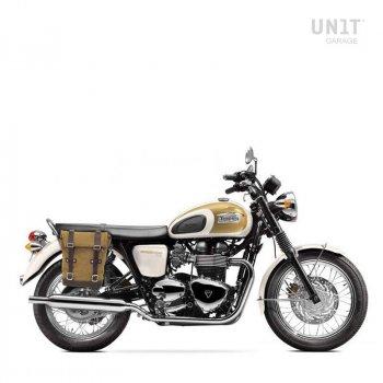 帆布侧袋+ Triumph T100 Bonneville DX镜架 (2001-2016)
