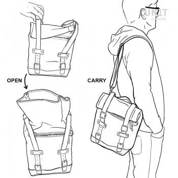 帆布侧袋+通用镜架