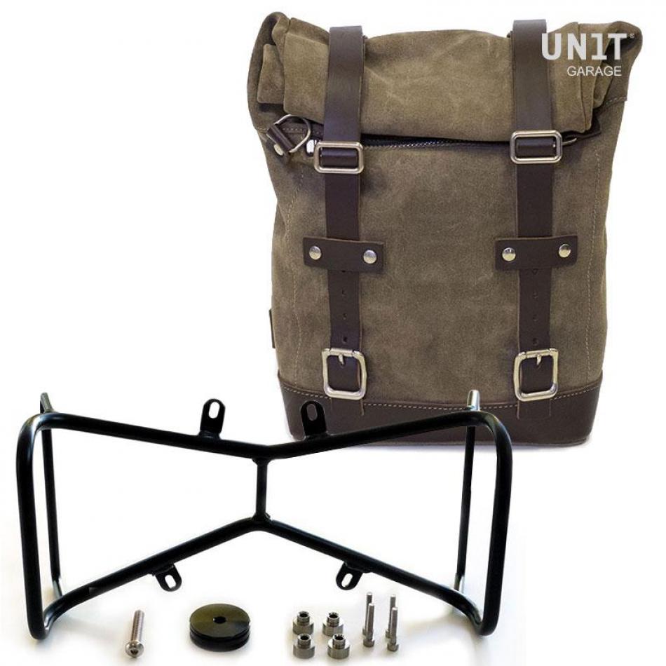 侧袋采用分体皮革+双NineT对称框架