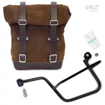 侧袋采用分体皮革+ Guzzi V7 SX镜架