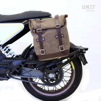 侧袋采用分体皮革+ husqvarna 401框架