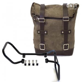 侧袋采用分体皮革+ husqvarna 701框架