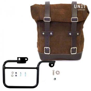 侧袋采用分体皮革+ K系列镜架