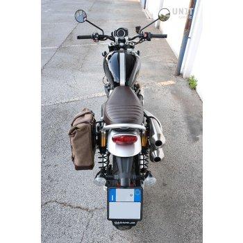 皮革分体侧袋+ Triumph Scrambler 1200 XC_XE SX框架