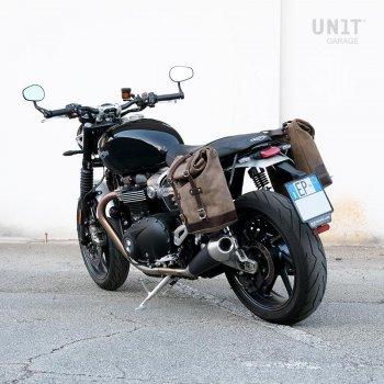皮革分体侧袋+ Triumph Speed Twin SX框架