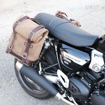 皮革分体侧袋+ Triumph Speed Twin DX框架