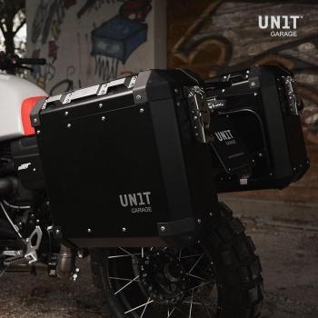 一对Atlas铝制47L + 41L铝制旅行袋,带有nineT框架