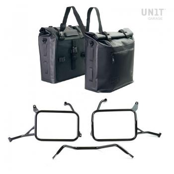 两个 Khali 侧袋采用 TPU 35L - 45L 材质,适用于 Triumph 1200 XC 和 XE 车架