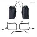 两个 Khali 侧袋采用 TPU 35L - 45L 材质,带 Yamaha 车架