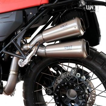 Titanium Scrambler双高消声器,可见焊接
