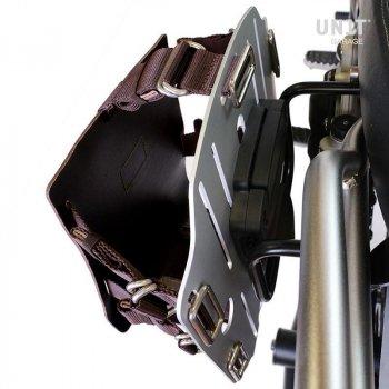 铝制袋架,带可调节皮革前部和快速接头