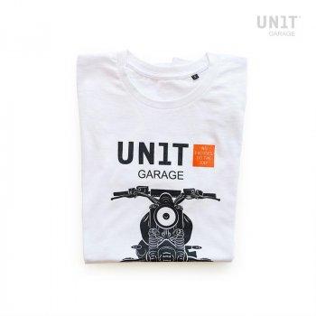 白色车库单位T恤